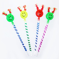 Long Nose Blow Out Dragons Roll Stall Brinquedos com Horn Sound Whistles Cartoon Smile Face Party Supplies Dragon Whistle 0 48fq B R