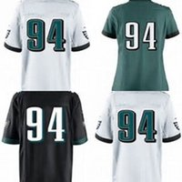 Wholesale Elite Football - Hot Sale Mens Womens Kids 94 Beau Allen Game Elite Black White Green 100% Stitched Full Embroidery Logos Best Quality Cheap Football Jerseys