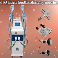 Wholesale Ultrasound Cavitation Slimming Machines - fat freeze slimming machine 4 fat freezing handles non invasive lipo laser machine ultrasound cavitation rf vacuum skin tightening