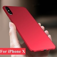 Wholesale Iphone Slim Case Cover - For iPhone X iPhone 8 7 6 6S Plus Case Samsung S8 S8Plus S7 S6 Edge Slim Matte PC Case Full Protection Cover