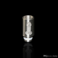 Wholesale Stainless Steel For Penis - stainless steel wide bore penis drip tip for E Cigarette Mechanical Mod colorful 510 Mouthpiece