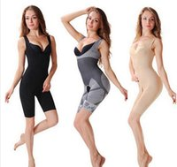 Wholesale Bamboo Charcoal Slimming Suit Wholesale - Bamboo Fiber Magic Slimming Beauty Underwear Bamboo Charcoal Women Slimming Suits Pants Bra Bodysuit Body Shaper