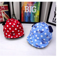 Wholesale Cowboy Hats For Kids Wholesale - Girl Top Hats Wholesale Beanies Print Baseball Summer Hats For Kid Cowboy Korea Fashion Children Headwear