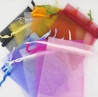 Wholesale Organza Bags 15 - 200Pcs 7X9 cm Organza Bag Wedding Favor Wrap Party Gift Bags 15 colors for select new