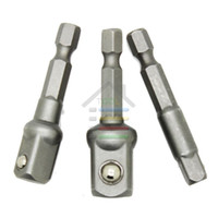 """Wholesale Square Tool Bits - New 3pc 1 4"""" Hex Shank to Square Power Drill Socket Bit Driver Extension Adapters 1 4"""" 3 8"""" 1 2"""" Replace Ratchet Quick Change order<$18no tr"""