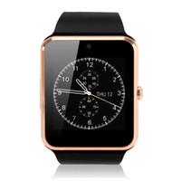 reloj inteligente manos libres al por mayor-Smart Watch Passometer GT08 con monitor de pulso, manos libres GPS, soporte de altavoz SIM para Androld y iOS