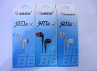 Wholesale iphone earphone jack accessories resale online - Brand Earphones Headphone With MIC Microphone MM Jack Stereo Bass For iphone Samsung Mobile Phone MP3 MP4 Laptop Accessories