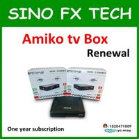 Wholesale Singapore Cable Receiver - 2017 StarHub box Singapore cable box TV receiver Amiko Mini combo PK streambox c1 qbox 5000hdc with wifi adapter