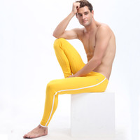 Wholesale Thermal Bamboo - Warm Pants Leggings WJ Brand Mens Long Johns Bamboo Fiber Mens Thermal Underwear Pants Quick Dry Thermo Underwear
