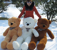 Wholesale Life Size Dolls For Sale - 2016 Fashion New 160cm Life Size Doll Plush Large Teddy Bear For Sale Giant Big Soft Toys Teddy Bears Valentines Day Gift
