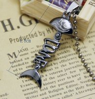 Wholesale Rope Chain Mens - Lots Free Shipping metal fish lovely pendants for girls cool gun black pendants for women diy mens necklace wax rope chain jewelry gifts