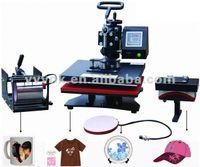 Wholesale Tshirt Transfer Press Machines - Free shipping Digital 4 in 1 multipurpose heat press machine4 in 1 Tshirt Mug Cap Plate Combo ,Heat press,Sublimation Heat transfer machine