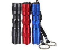 Wholesale Led Flashing Key Chain - Mini LED Flashlight 3W Waterproof Lanterna Led Torch Flashlight Flash Light Lamp Camping Hiking DHL Free Shipping(fb638)