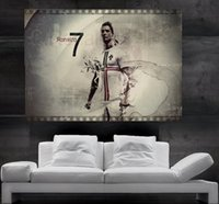 Wholesale Giant Art Prints - CR7 Cristiano Ronaldo Real Madrid and Portugal Poster print wall art 8 parts giant hug free shipping NO15