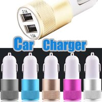 Wholesale Amp Output - Best Metal Dual USB Port Car Charger Universal 12 Volt   1 ~ 2 Amp for Apple iPhone iPad iPod   Samsung Galaxy   Motorola Droid Nokia Htc