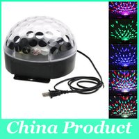 Éclairage de scène projecteur laser LED Rotated Base activée par la voix Led Crystal Magic Ball lumière KTV Disco DJ Party Lights
