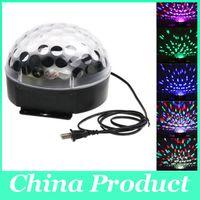 ingrosso proiettore vocale attivato-Luci da palcoscenico Proiettore laser LED Base girevole a comando vocale Cristallo a sfera magica Luce KTV Discoteca Luci da DJ