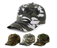 Wholesale Wholesale Mens Camouflage Hats - Mens Army Military Camo Cap Baseball Casquette Camouflage Hats For Men Hunting Camouflage Cap Women Blank Desert Camo Hat