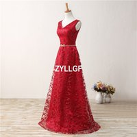 Wholesale Grape Pattern - Red Flowers Pattern High Quality V-neck Zipper Back Floor-Length Evening Dresses Plus size New Arrival Hot Dress Formal Gown Robe De Soiree