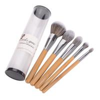Wholesale Eco Premium - Vela .Yue Makeup Brush Set Premium Face Eyes Brush Collections Eco-Friendly Bamboo Beauty Tools Make Up Tools