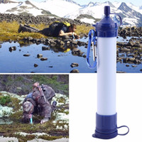ozone water filters - 2016 Hot Personal Survival Water Filter Portable Waterstraw Outdoor Water Purifier for Emergency Earthquake camping Hiking