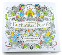 Unisex Big Kids Multicolor 2016 Brand 185185cm Enchanted Forest Book Secret Garden Drawing Books Animal Kingdom Coloring Free Shipping Painting