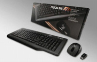 Rapoo 8200 Wireless Multimedia Keyboard Optical Mouse Combos, qualità superiore di marca Tastiera Mouse per PC Gaming Laptop