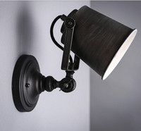 painting light fixtures - Personalized led wall lighting Vintage swing arm wall light black hand painted wall light stair lamp indoor light fixture