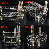 Wholesale Display Stands Shelf - E-cig acrylic stand display showcase show shelf ego holder rack for ecig electronic cigarette stand shelf holder ecigs mech mods