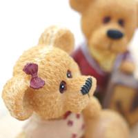 figurines antiques achat en gros de-Meilleur cadeau de famille Articles d'ameublement décoratifs LOVE the bear famille figurines en résine Artisanat créatif Une famille de quatre ours