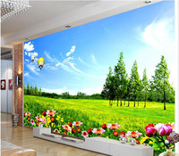 Wholesale Traditional Chinese Painting Flowers - 3d wallpaper custom photo non-woven mural wall sticker Hd grassland flowers decoration painting picture 3d wall room murals wallpaper
