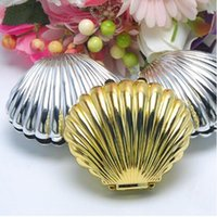 Wholesale Shell Wedding Favor Boxes - Wedding Candies Boxes Shell Candies Boxes Various Colors Plastic Candies Boxes Wedding Accessories Gold Silver Transparent