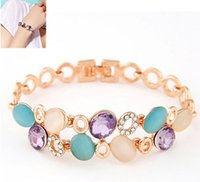 Wholesale Linked Charm Bracelets For Sale - Hot sale 2016 Fashion multilayer Rhinestone light of xinghai crystal Charm bracelets & bangles Wristband for women