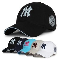 Wholesale Pink Snapback Hats Wholesale - 11 Colors Yankees Hip Hop MLB Snapback Baseball Caps NY Hats MLB Unisex Sports New York Adjustable Bone Women casquette Men Casual headware