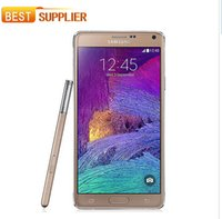 Wholesale Android Cell Note - Original Samsung Galaxy Note 4 Unlocked Cell Phone 16mp Camera 3gb Ram and 32gb Rom 3g 4g 5.7'' Touch phone