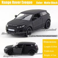mat araba toptan satış-Range Rover Için 1:36 Ölçekli Diecast Alaşım Metal Araba Modeli Evoque Koleksiyonu Lisanslı Model Geri Çekin Oyuncaklar Araba-Mat siyah