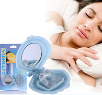 Wholesale Sleeping Aid Nose Device - Free Shipping New Silicon Stop Snoring Nose Clip Anti Snore Sleep Apnea Aid Device Night Tray
