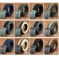 Wholesale World War Ii Military - Belts For Men Us World War Ii Outdoor Military Thick Cotton Webbing Straps Mens Designer Belts Luxury High Quality Belts For Men And Women