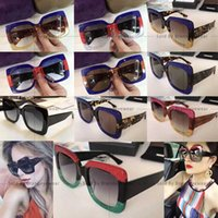Wholesale Hot Sunglasses Square - 0083 S Sunglasses Large Frame Sparking 0083S Square Sun Glasses Hot Brand Women Desiger with Big Logo If you want other can contact me 0083