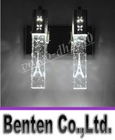 NEW moderne 5W LED Crystal Bubble Murale Cristal Cylinder Forme Colonne Salon Applique Miroir Lumière RGB Blanc Chaud Chandelier Light