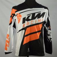 t-shirt orange de vélos achat en gros de-Marque-Hot man style hors route VTT KTM MX DH maillots de vélo de vélo respirants motocross T-shirts Downhill dirt sweat sweatshirt VTT
