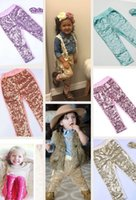 Wholesale Wholesale Toddler Tights - Baby Girls Leggings children bling bling sequins pants Autumn New children Bottoms Toddler Girl Glitter Leggings Birthday Present A00029