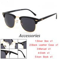 Wholesale Inspired Case - Brand Designer Inspired Fashion Sunglasses Men Women Semi Rimless Retro Multiple 15Color Wholesale Sun Glasses With Original Case Box
