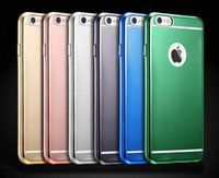 Wholesale Iphone Silicon Case Frosted - Slim Electroplate Frosted Matte Case For Iphone 7 6 6s Plus Silicon Tpu Soft Plating Candy Covers