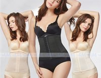 Wholesale Spanx Body Shapewear - New corsets waist trainers latex shapewear body shaper corset 9 Steel Bone high waist girdles body shapers underwear thong spanx Ann Chery