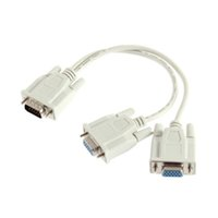 Wholesale Monitor Y Splitter - 1 to 2 VGA Splitting Cable Monitor Dual Video Way VGA SVGA Graphic LCD TFT Y Splitter Cable Lead