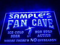 Wholesale Green Led Fan - DZ068b- Name Personalized Custom Bar Soccer Football Fan Cave Man Beer LED Neon Beer Sign