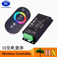Hochwertige DC 12-24V 18A Wireless LED Controller RF Touch Panel LED Dimmer RGB Fernbedienung für RGB LED STRIP LIGHT