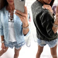 Wholesale Flower Loose Diamonds - 2017 Autumn Sweater Women Cardigan Open Stitch Knitted Sweater Loose Coat Crochet Female Casual O-Neck Woman Cardigans Tops DHL DY170908