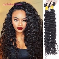 Hot Sale Extensions de cheveux humains Malais Deep Wave 2pcs Malais Deep Wave Hair Bundles Mix Longueur 8-28 Inch Malaysian Curly Weave Wavy Bulk